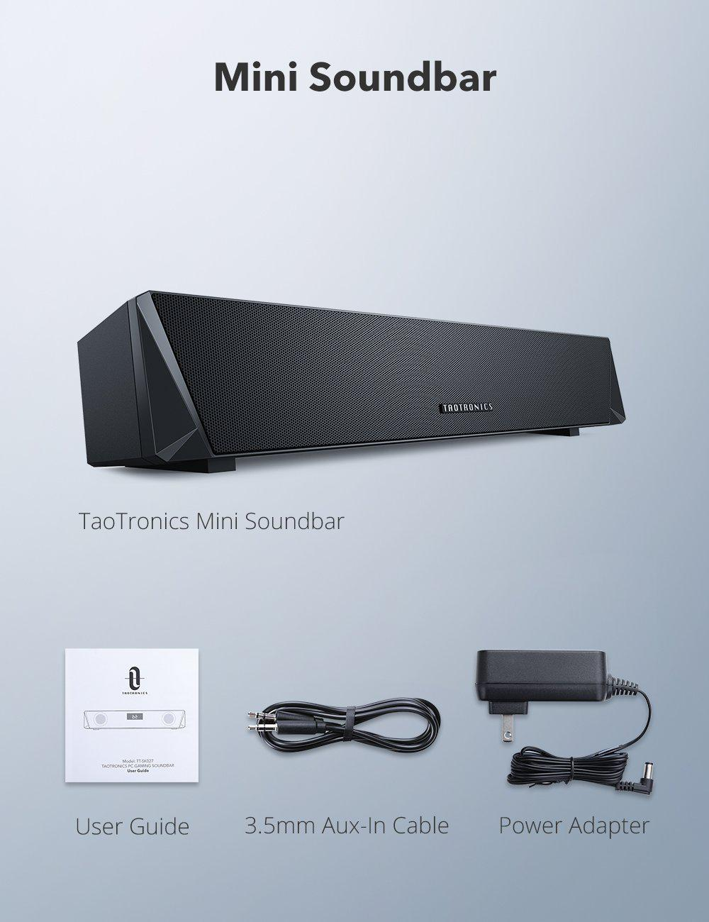 TaoTronics PC Sound Bar Gaming Computer Speaker SK027 Gallery 6