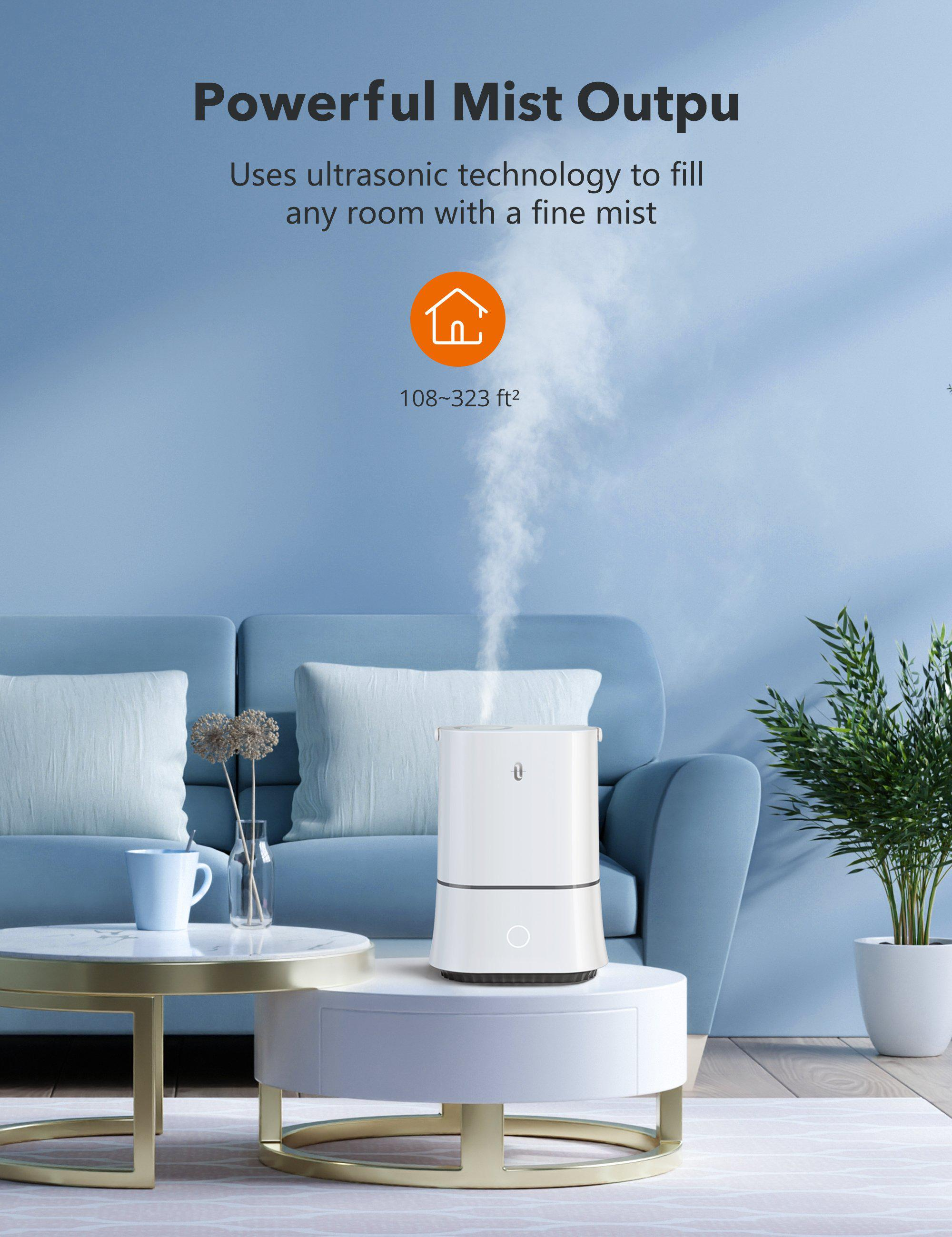 4L Cool Mist Humidifiers, Quiet Ultrasonic Humidifier for Bedroom-TaoTronics