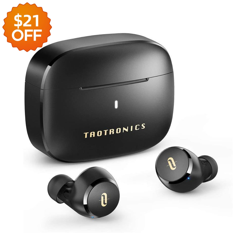 Soundliberty 97 True Wireless Earphones in-Ear with AptX Stereo Bass Touch Control-TaoTronics