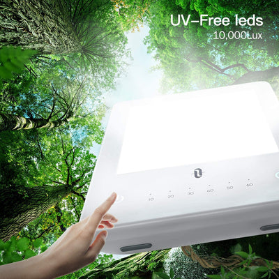 Light Therapy Lamp11,10000 Lux Uv-free Therapy Light