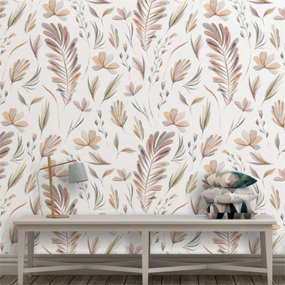 neutral botanical removable wallpaper - little lion house perth
