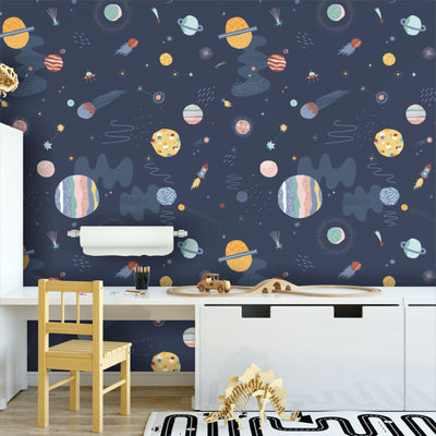 Outer space removable wallpaper
