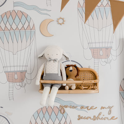 Bikes and balloons removable wallpaper