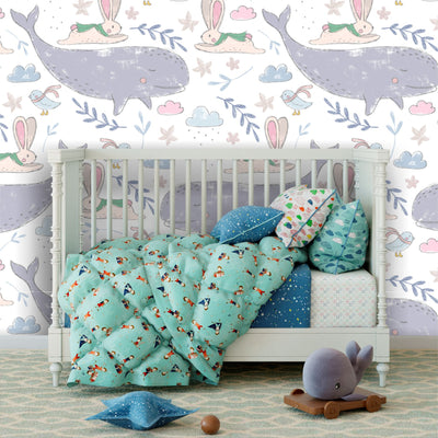 Whimsical world removable wallpaper baby nursery
