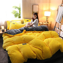 Load image into Gallery viewer, COMFY 4PCS CORAL VELVET BEDDING SET