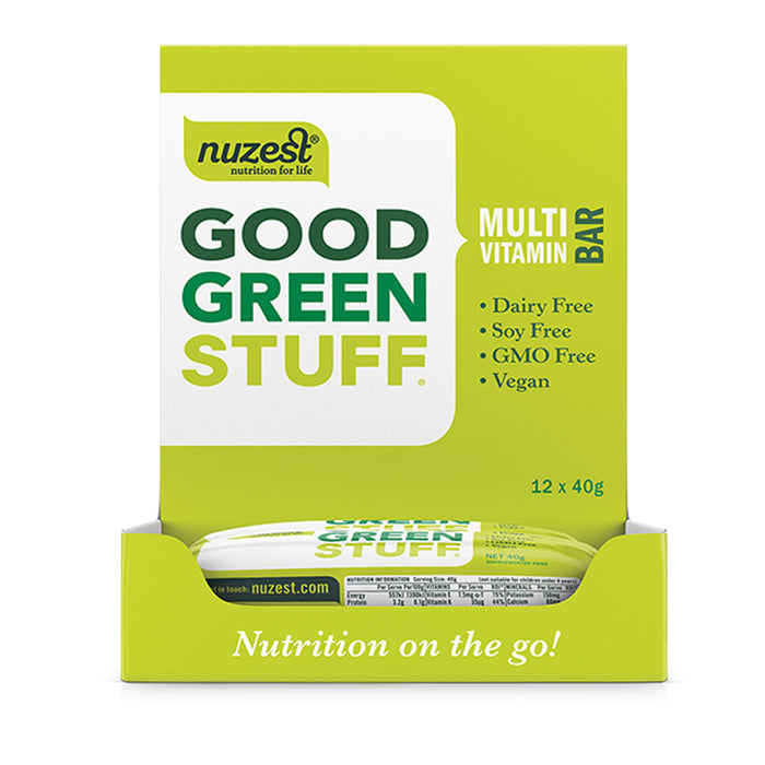 NuZest Good Green Stuff Vitamin Bars