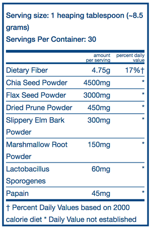 Vital Nutrients Whole Fiber Fusion Powder