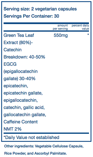 Vital Nutrients Green Tea Extract 80% Catechin