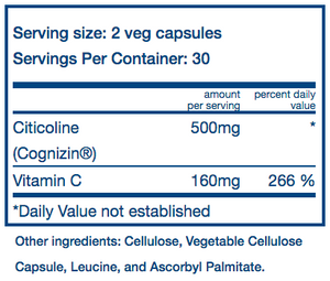 Vital Nutrients Citicoline Cognizin 250mg