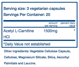 Vital Nutrients Carnitine 500mg