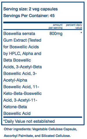 Vital Nutrients Boswellia 400mg