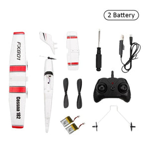 Beginner Electric RC Airplane Remote Control 150 meters Aeroplane Glider Plane Cassna 182 More Battery can Improve Flying Time