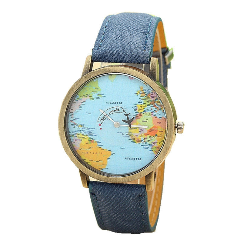 Global Travel By Plane Map Watches - Buy4Travel
