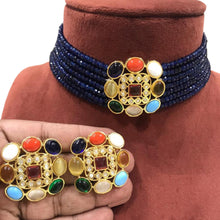 Load image into Gallery viewer, Kundan choker necklace