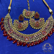 Load image into Gallery viewer, Choker designer antique necklace set