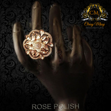 Load image into Gallery viewer, Meena kari Fancy Flower AD Finger Ring - Classy Missy by Gur