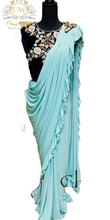 Load image into Gallery viewer, Blue Saree - Classy Missy by Gur