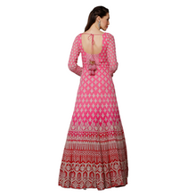 Load image into Gallery viewer, Ombré pink embroidered Anarkali suit