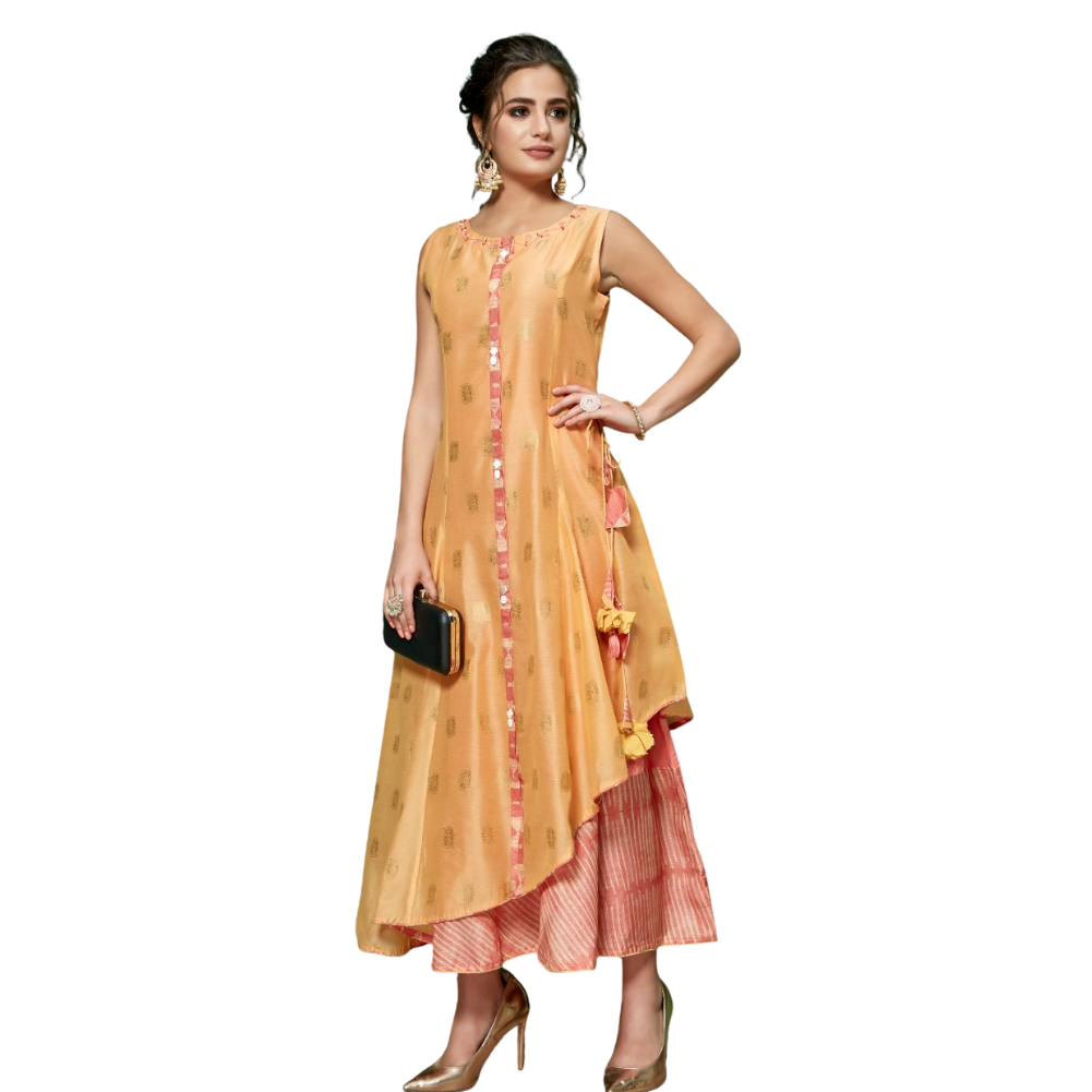 Orange Kurti - Long