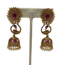 Load image into Gallery viewer, Peacock Jhumka Earrings