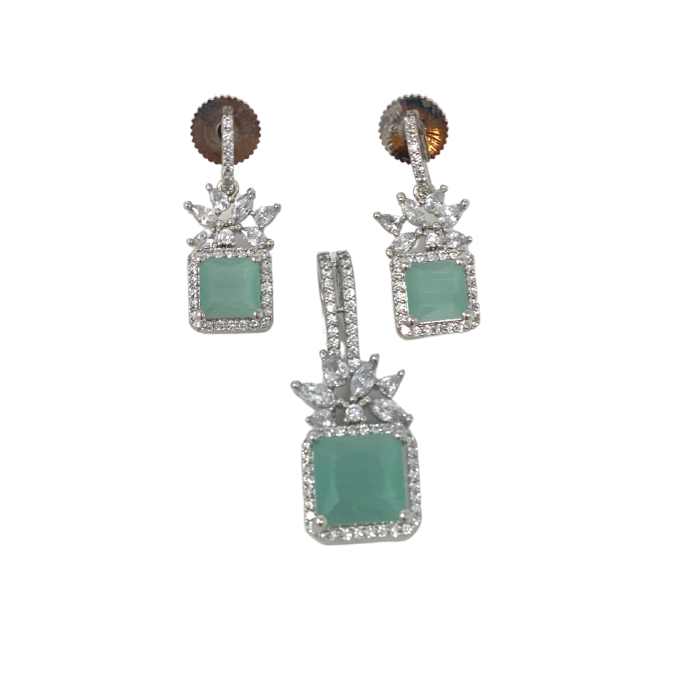 Stone Earrings with Pendant