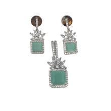 Load image into Gallery viewer, Stone Earrings with Pendant