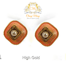 Load image into Gallery viewer, Textured stud Delicate Zinc Earrings - Classy Missy by Gur