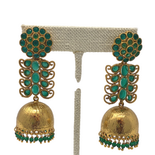 Load image into Gallery viewer, Earrings - Jhumka with Stone