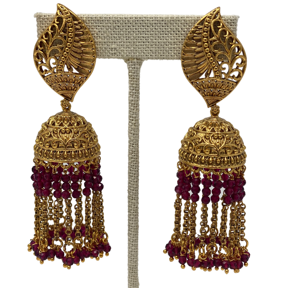 Jhumka with Hanging beads