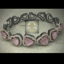 Load image into Gallery viewer, CZ Pink stone Kada