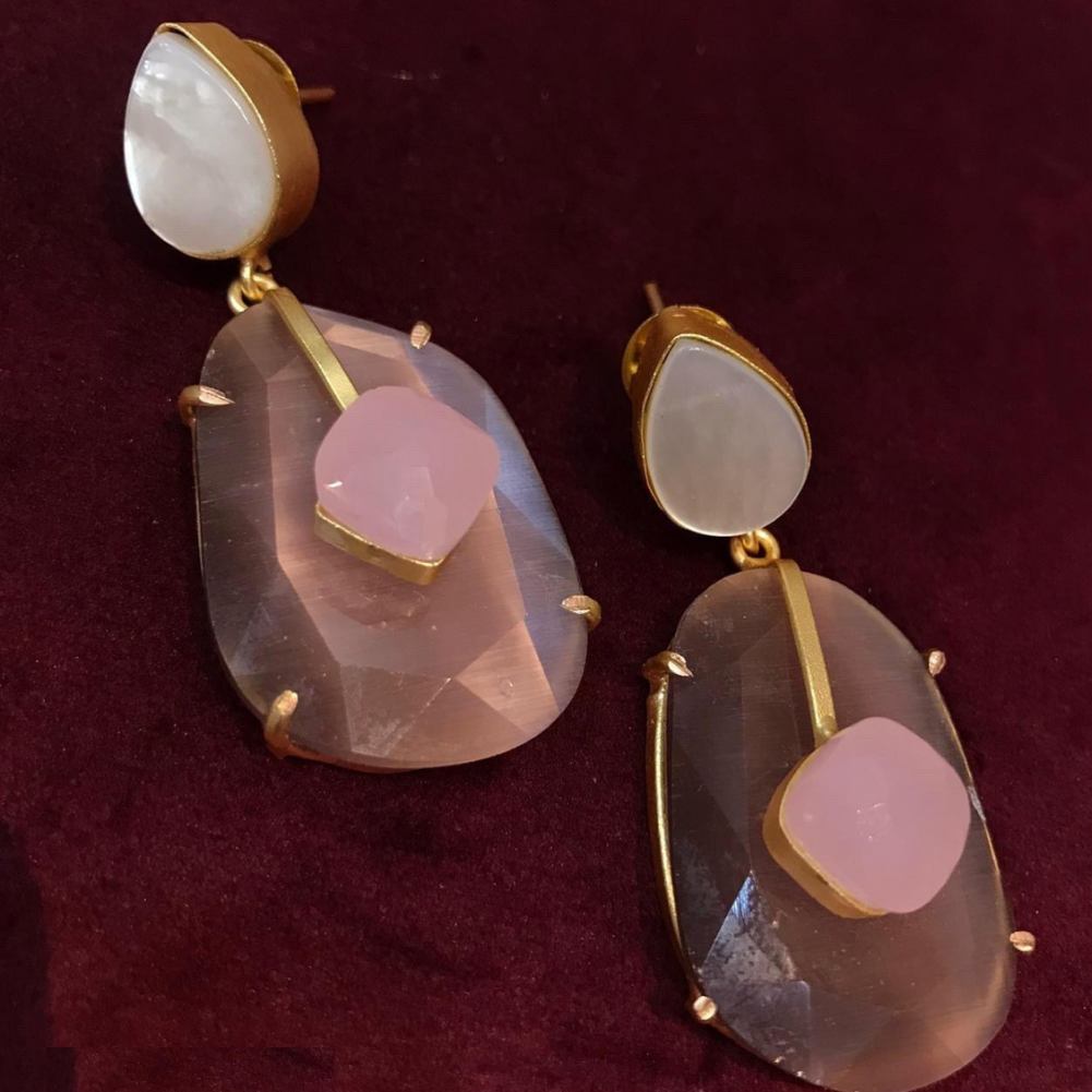 Shell and Quartz Earrings