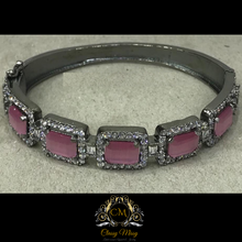 Load image into Gallery viewer, Pink CZ Stone Kada