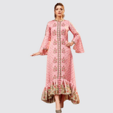 Load image into Gallery viewer, Pink Kurti In Cotton Silk For Festive Wear