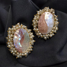 Load image into Gallery viewer, White stone earrings