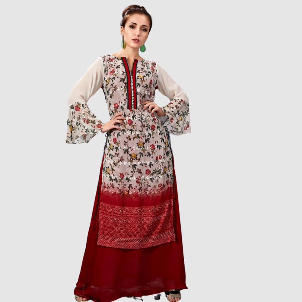 Cotton Silk Printed Long Kurti