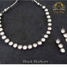 Load image into Gallery viewer, Round shape stoned kundan Necklace set - Classy Missy by Gur