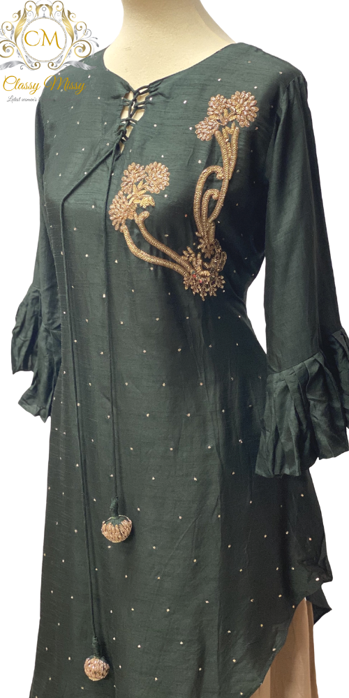 Kurti with Skirt - Green - Classy Missy by Gur
