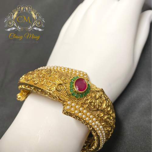 Ruby Antique Openable Kada