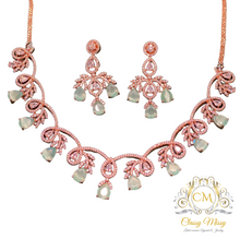 Load image into Gallery viewer, Stone studded Necklace set with Earring