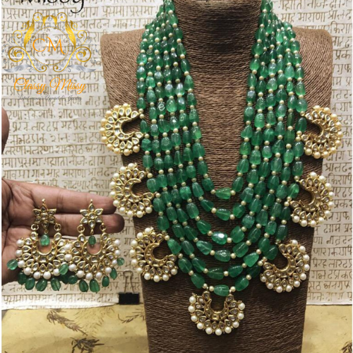 Green Necklace set - Classy Missy by Gur