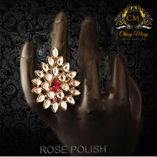 Load image into Gallery viewer, Paan Diamond heavy Ad Finger Ring - Classy Missy by Gur