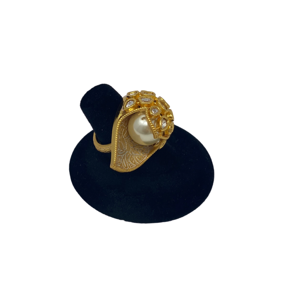 Gold Plated Pearl ring