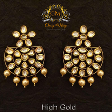 Load image into Gallery viewer, Half Circle Style Kundan Stoned Earrings - Classy Missy by Gur