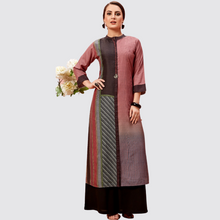 Load image into Gallery viewer, Cotton Silk Round Neck Long Kurti
