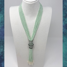 Load image into Gallery viewer, Layered Beaded Tassel Necklace