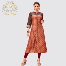 Load image into Gallery viewer, Cotton Silk Kurti