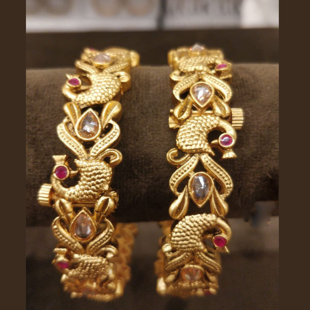 Gold kundan Kada/Bangle