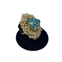 Load image into Gallery viewer, Kundan Flower Ring