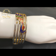 Load image into Gallery viewer, Silver and Golden Peacock Kada