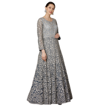 Load image into Gallery viewer, Blue ombré Anarkali suit